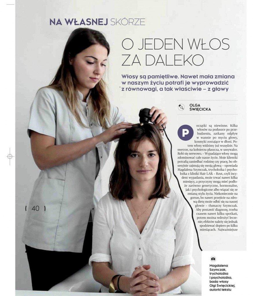 wypadanie włosów artykuł